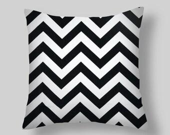 Black Chevron Pillow Covers