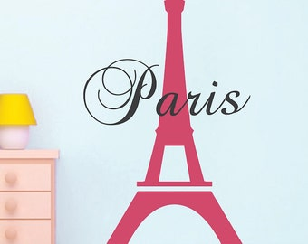 Eiffel Tower Wall Decor eiffel tower decal | etsy