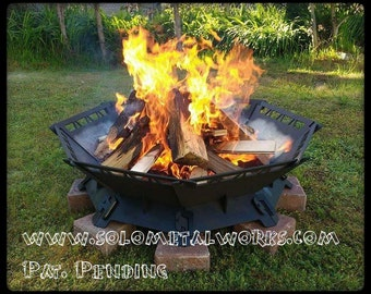 Items similar to 36 hexagon jeep grill modular fire pit for Prefab fire pits