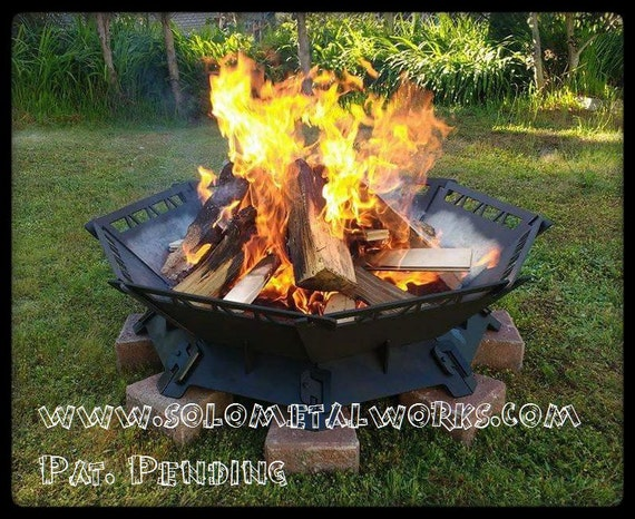48 octagon modular steel fire pit kit free shipping for Prefabricated fire pits