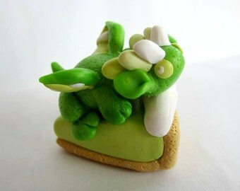 Key Lime Pie Polymer Clay Dragon