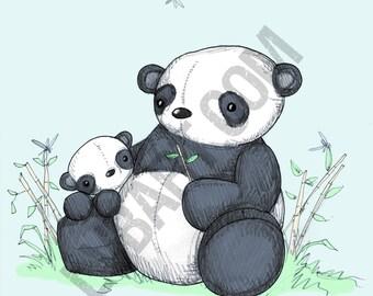 Plushie Pandas Fine Art Print
