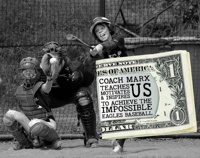 Baseball Coach | Baseball | Coach Gift | Gift for Coach | Coach Appreciation | Appreciation Gift | Custom Money Clip | Korena Loves