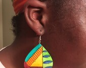 Multicolor handcrafted paper earrings