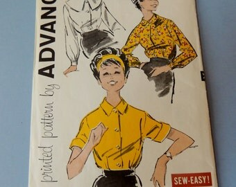 Advance 9158 Teen and Junior Blouse size  14 Uncut
