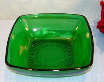 Charm Forest Green by Anchor Hocking Dessert or Small Berry Bowl, 4.75 inch