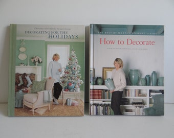 Martha Stewart How to Decorate and Martha Stewart Decorating for the Holidays - Decorating Books - Martha Stewart Books - Home Decor