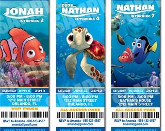 Finding Nemo Inspired Invitation Printable - Printable Birthday Party Invitation