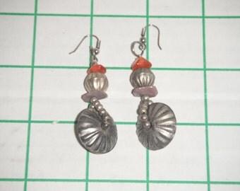 vintage dangle earrings, hand-made