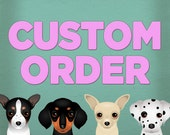 RESERVED for Nixynix - Custom 5x7 of the Rat Terrier Coffee Bean Company print