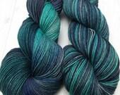 "Hand dyed ""McSteamy"" SW Merino/Yak/Nylon sock yarn"