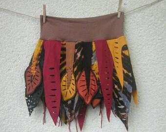 Red tie dye festival skirt , festival clothing, elastic waist,extra large, medium size