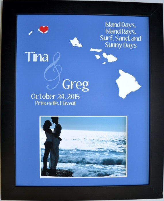 Destination Wedding Gifts For Parents : Wedding gift for parents hawaii destination wedding by Picmats