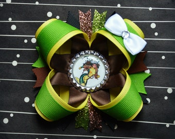 Rogue Xmen stacked layered hair bow