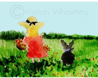 Scottie Dog 'Wild Flowers' Art Print #105