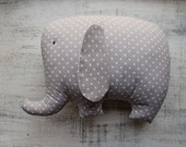 11 colors Stuffed elephant pillow nursery decor 9x12 inches primitive animal toy baby shower polka dot boho nursery decor travel pillow
