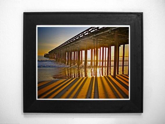 Sun Rays 8x12 Surfing beach surf photography print ocean sea surfer beachy waves wall art sunset water