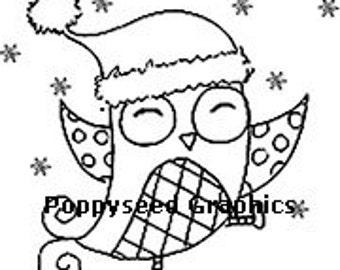 Happy Christmas Digital Stamp by Lee Seed