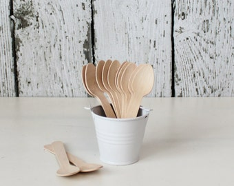 Ice Cream Spoons // Tasting Spoons // Mini Wooden Spoons : The Paper Doll
