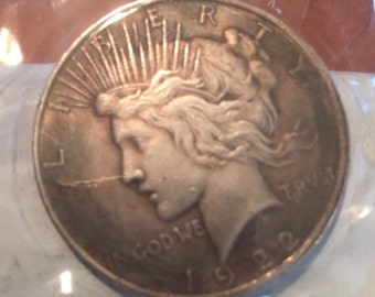 2 1922 Morgan dollar 2 sided Harvey 2 face COIN **SPECIAL**2coin deal