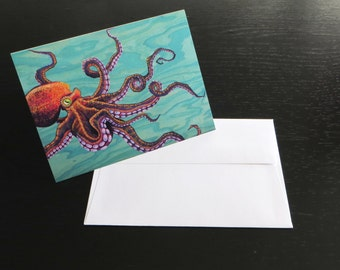 Tentacles Greeting Card (Octopus)