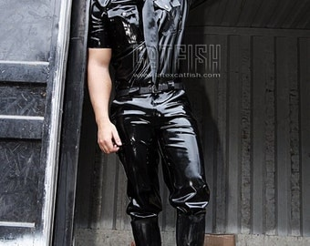 The Dark Officer Latex Pants Rubber Trousers