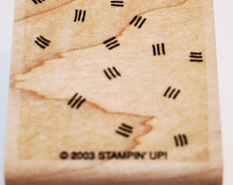 Three Dashes Background Rubber Stamp from Stampin Up