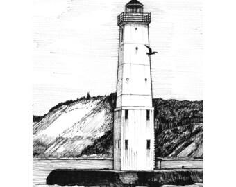 Frankport Lighthouse (Print)