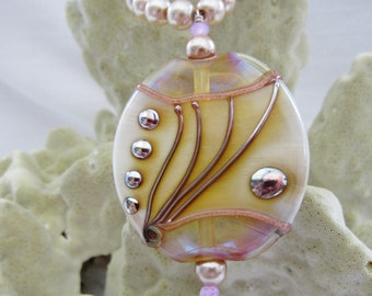Pearl & Lampwork Bead necklace