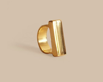 Gold Heavy Top Ring