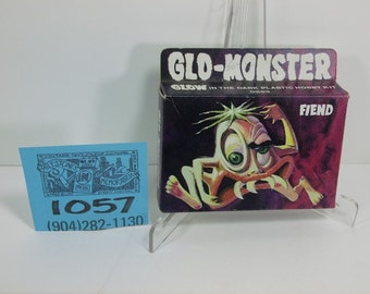 "1970's Lindburg Rare Glow ""Fiend"" Model kit and box-Sealed"