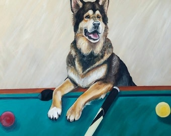 Custom Pet Portrait - Acrylic, Made-to-order