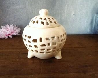 ceramic white bowl for pot pouri