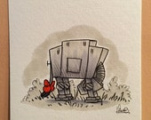 "Original, signed ""Wookiee the Chew"" drawing - ""At-Ore"" by James Hance"