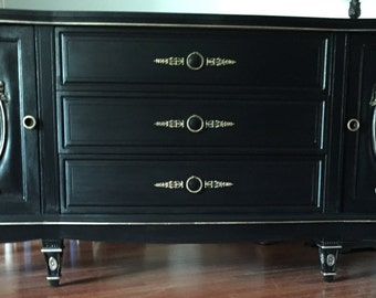 Black and Gold dresser/changing table/media console - PICK YOUR COLOR ** See below