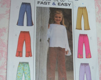 Butterick 3955 Childrens / Girls Top Pants Sewing Pattern - UNCUT - Sizes 2 3 4 5