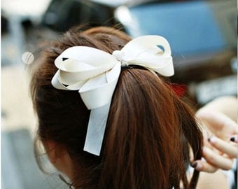 Made in Korean Women High Quality Bow Hair Clips Barrette Ponytail Holder