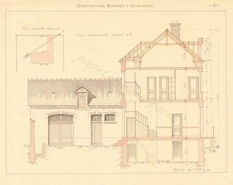 Vintage french farm, architecture -