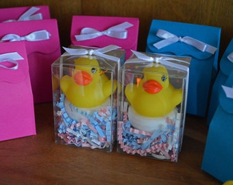 Duck Gender Reveal Party Kit | Pink & Blue Reveal Fizz | Banner | Favor Bags