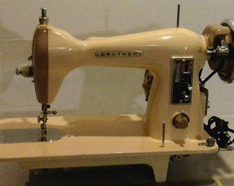 Restored Brother Class 15 Vintage Sewing Machine, with Free Shipping and Lifetime Guaranty