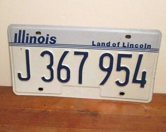 Illinois License Plate 1980's J 367 954