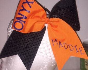 SEQUIN, PERSONALIZED Cheer Bow!