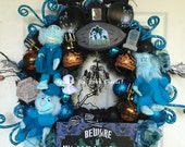 Haunted Mansion Wreath, Halloween Wreath, Disney Halloween Wreath