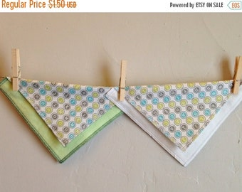 ON SALE Flannel Napkins, Cloth Kitchen Towels, 8 Inch Cloth Napkins, Small Unpaper Towels, Set of Two Flannel Towels