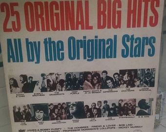 Vintage Record Album 25 Original Hits Original Stars The Homestead 60's 70's Songs