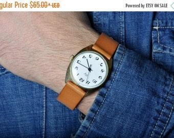 "SALE - Soviet watch -Classic- ,Mens watch, Russian watch, Vintage Watch ,classic watch, gold watch ,Mens watch, boyfriends watch ""Raketa"""
