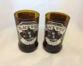 Wychwood Brewery Black Wych Beer Glasses (Recycled Bottles) Set of 2