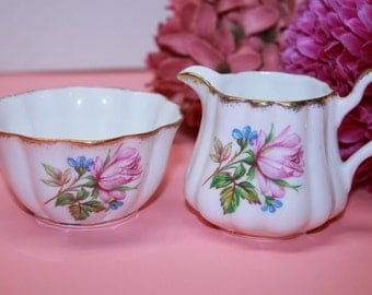 Royal Stuart Milk and Sugar Set
