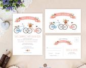Bicycle wedding invitatio...