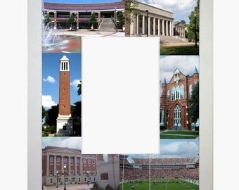 Alabama Picture Frame Photo Mat Unique Gift School Graduation Personalized